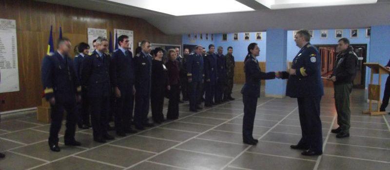 Absolvirea cursului de informare aeronautică pentru ofiţeri, maiştri militari şi subofiţeri